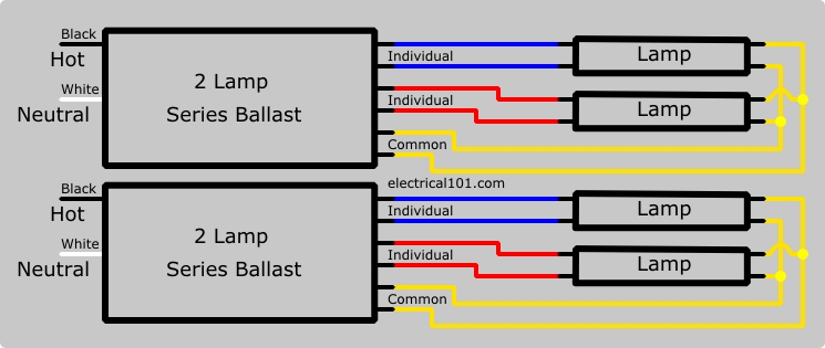 two 2lamp series balast wiring diagram ge proline t12 ballast wiring diagram ge proline t8 \u2022 free wiring Fluorescent Ballast Wiring Diagram at gsmx.co